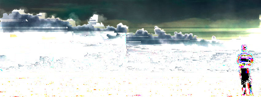 """The Battle for Kobane (02)""glitch 4th°, 850x318px, 2014 - original photo AFP / Aris Messinis"