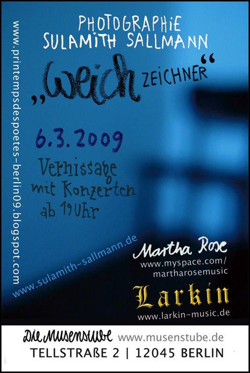 Flyer der Ausstellung Weichzeichner
