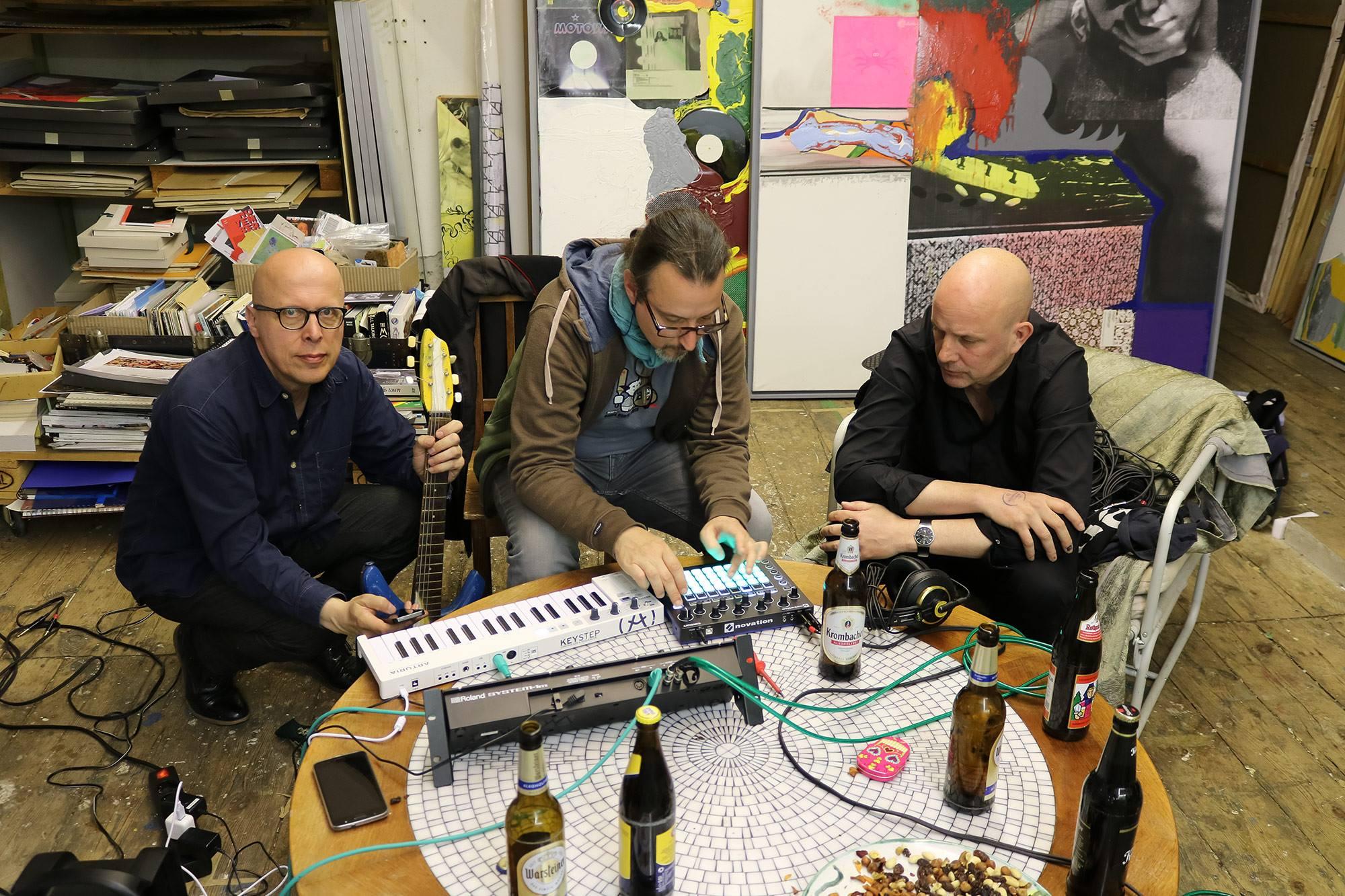 3 artists making music